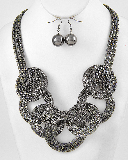 Braided Mesh Metal Necklace
