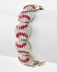 Rhinestone Baseball Bracelet