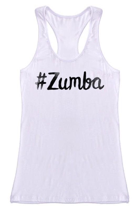 #Zumba Ink Racerback Tank - White