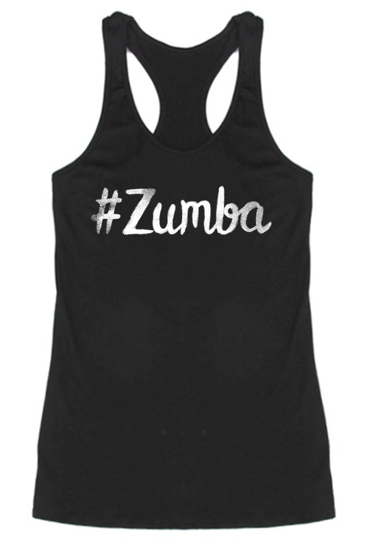 #Zumba Ink Racerback Tank - Black