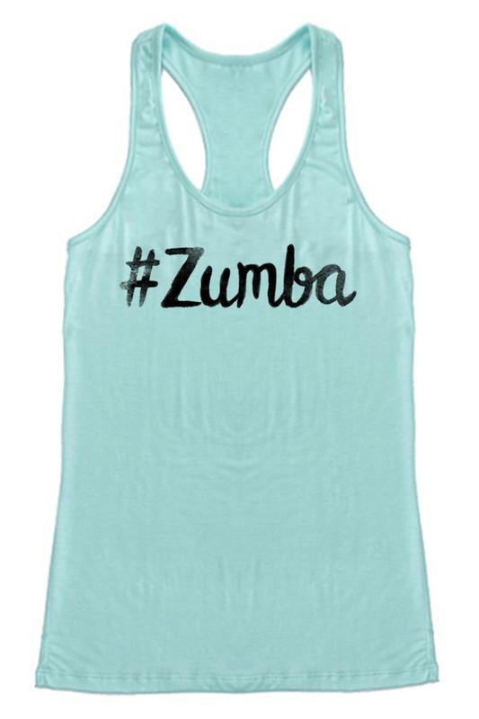 #Zumba Ink Racerback Tank - Mint