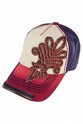 Red, White & Blue Fleur de Lis Baseball Hat by Olive & Pique