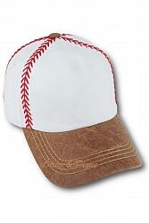 Olive & Pique No Bling Baseball Theme Stitch Hat