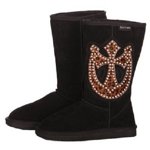 Leopard Horseshoe/Cross Boots