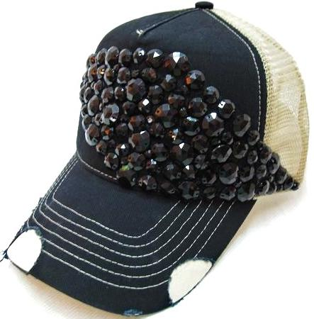 Abstract Beaded Gem Deco Trucker by Olive & Pique