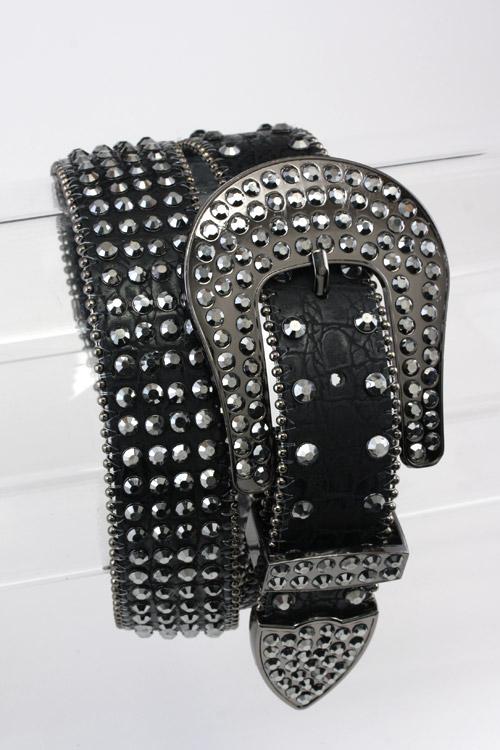 Western Bling Crystal Embellished Belt
