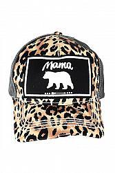 #HT-5788 Mama Bear Leopard Print Baseball Hat