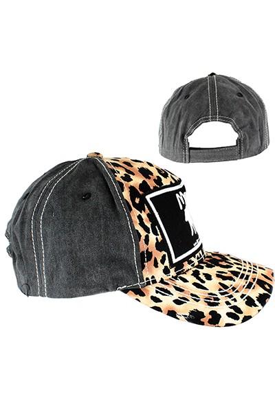 Mama Bear Leopard Print Baseball Hat