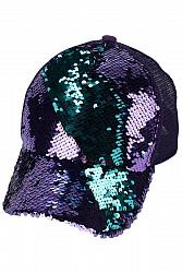 Sequin Ponytail Baseball Hat - Multi-Color