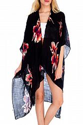 #CP-2489 Tropical Exotic Floral Beach Cover Up