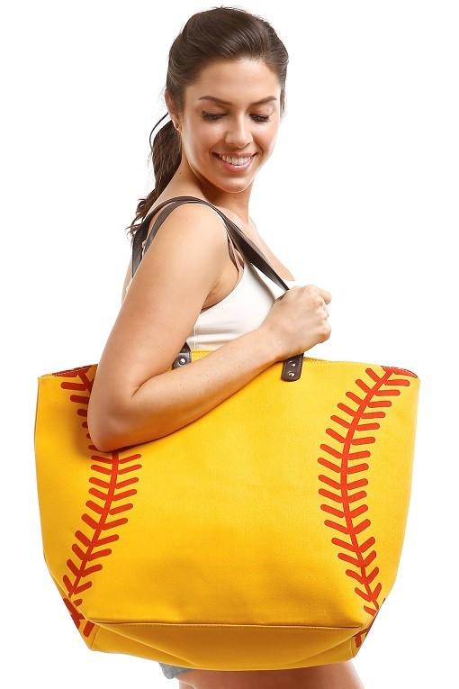 Game Day Softball Theme Tote