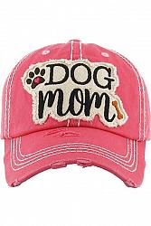 Dog Mom Baseball Cap - Hot Pink