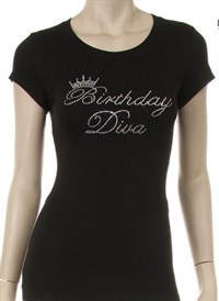 Birthday Diva Rhinestone Shirt