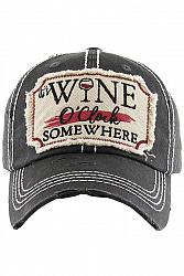 It's Wine O'Clock Somewhere Baseball Hat
