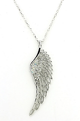 Crystal Feather Pendant