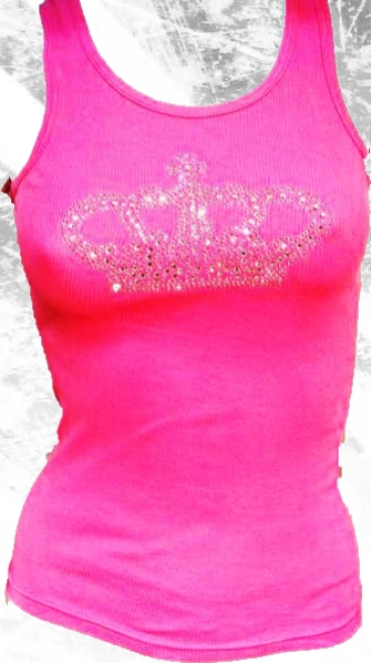 Rhinestone Crown Tank Top by Olive & Pique