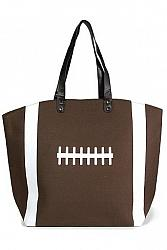 #FB-4122 Game Day Football Theme Tote