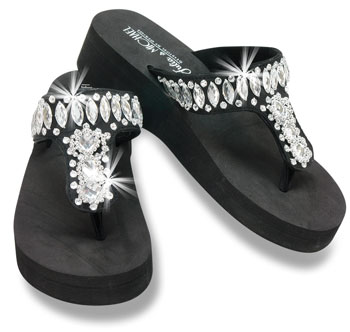 #FLP-005 Gem Wedge Flip Flops