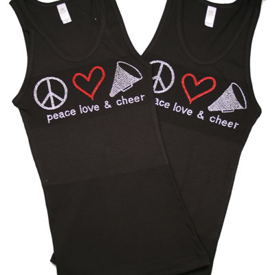 Black Peace, Love, CHEER Tank