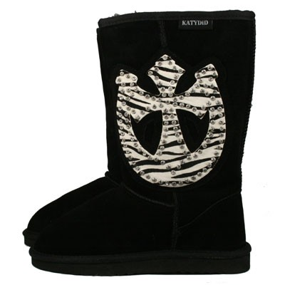 ZEBRA HORSESHOE/CROSS Boots