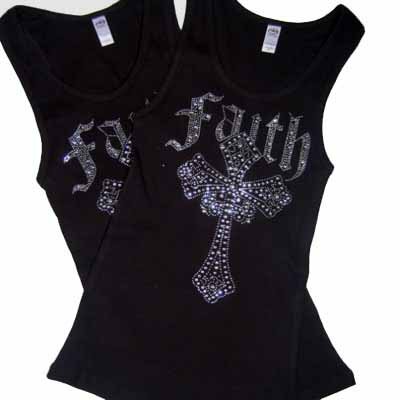 Black FAITH CROSS Tank Top