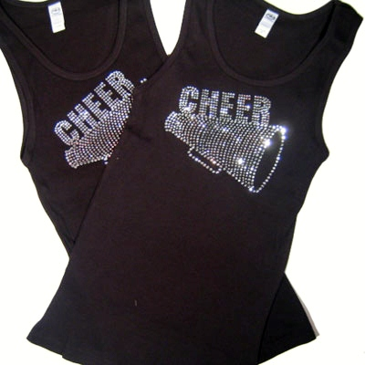 Black CHEER/MEGAPHONE Tank Top