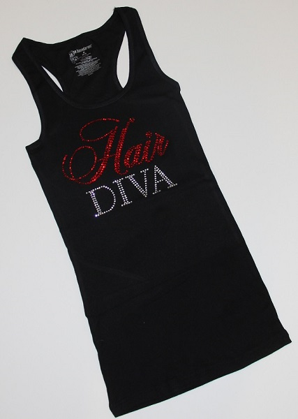 Rhinestone Hair Diva Tank Top