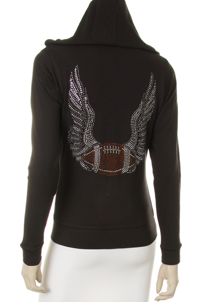 Rhinestone Football Jacket