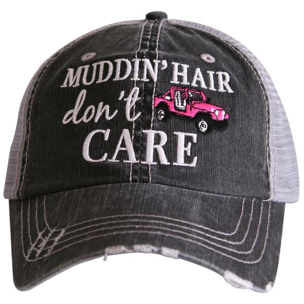 #HT-4120 Katydid Jeep/Muddin Hair Dont Care Trucker Hat