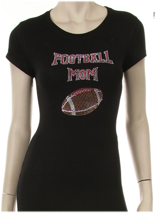 Rhinestone Football Mom Shirt