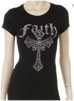 FAITH WITH CROSS RHINESTONE SHIRT