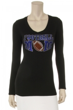 Football Mom Rhinestone L/S Top