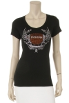 Football w/Wings Rhinestone S/S Top