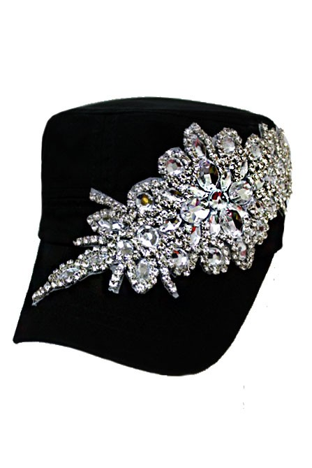 Bling Rhinestone Baseball & Cadet Style Hats