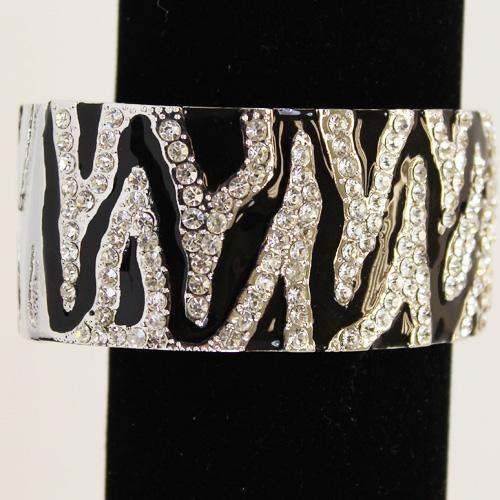 Zebra Rhinestone Bracelet