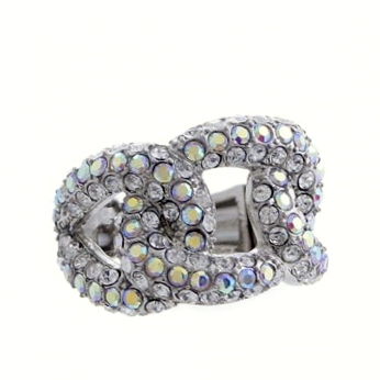 Rhinestone Crystal Braid Ring-AB