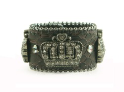 Crown Leather Cuff