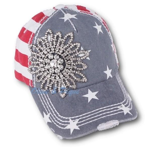 USA Stars   Stripes Baseball Hat by Olive   Pique 3093fa4017f