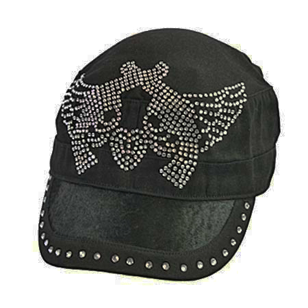 Rhinestone Revolvers with Wings Cadet Cap