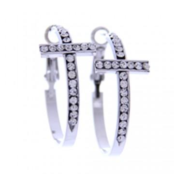 Cross Rhinestone Earrings
