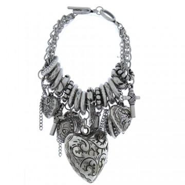 Vintage Assorted Charm Bracelet-Silver