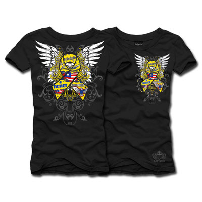 SUPPORT The TROOPS Rhinestone Shirt