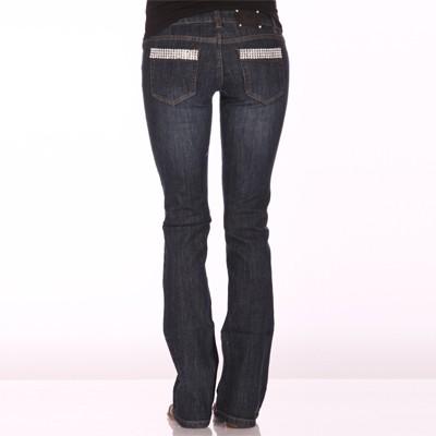 RHINESTONE Embellished Pockets Jeans