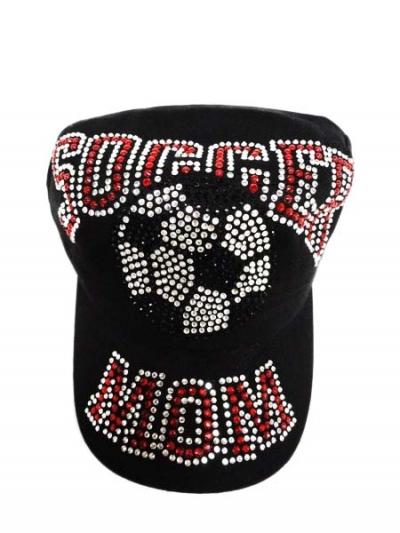 Rhinestone Soccer Mom Cadet Style Cap