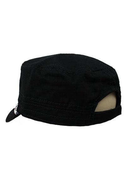 Lined Crystal Rhinestone Cap - Black